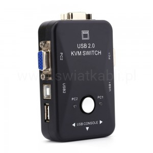 Switch KVM USB 2.0 na 2xPC 2xUSB
