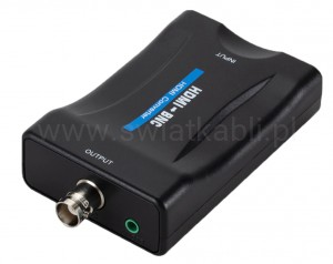 Konwerter z HDMI na BNC + audio JACK 3,5mm